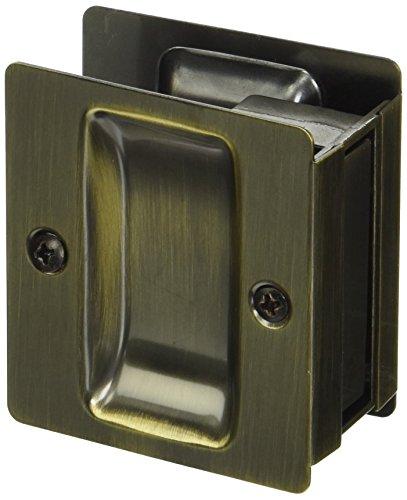 Kwikset 332 Notch Hall/Closet Pocket Door Lock in Antique Brass 5 Antique Brass Latch