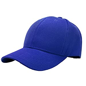 Falari Baseball Cap Adjustable Size Solid Color G001-13-Royal