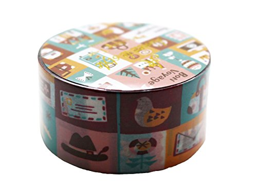 Aimez Le Style Primaute Collection Special New Design World Journey Bon Voyage Washi Masking Deco Tape Semi Wide. (Tape Tape Kawaii Deco)
