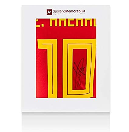 Amazon.com: Eden Hazard Autographed Jersey - Belgium Shirt ...