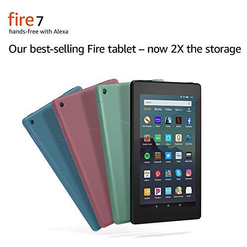 "Certified Refurbished Fire 7 Tablet (7"" display, 32 GB) - Plum"