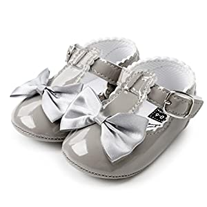 Wanshop Girls Shoes, Newborn Infant Baby Bowknot Princess Soft Sole Shoes Toddler Sneakers Casual Shoes First Walking…
