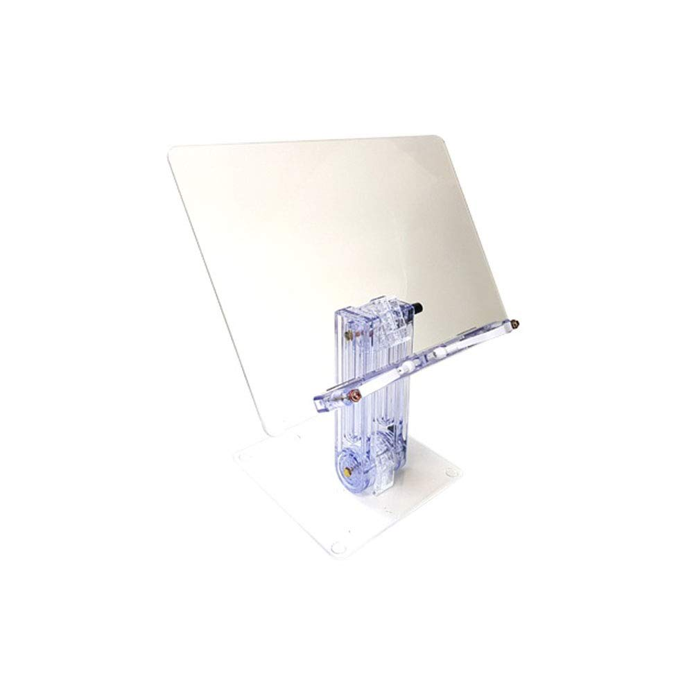 SEHINO Transparent Book Stand Large Book Holder, Adjustable Foldable Portable (14'' x 3'')