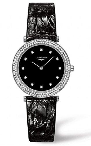 Longines La Grande Classiqe - L4.515.0.58.2 - Black Diamond Dial Diamond Bezel Quartz Women's