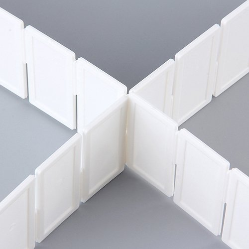 - Lastnight 6Pcs Plastic DIY Grid Drawer Divider Panel Household Storage Organizer Partition