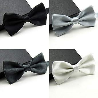 RIsxffp Hombres corbata multicolor corbata corbata cl/ásico color s/ólido pajarita corbata smoking boda fiesta de lazo ajustable pajarita