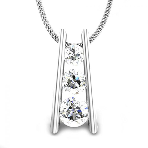 925 Sterling Silver 0.43 ctw Round White Diamonds Journey Pendant (IGI, I-J, SI1-SI2) by Candere