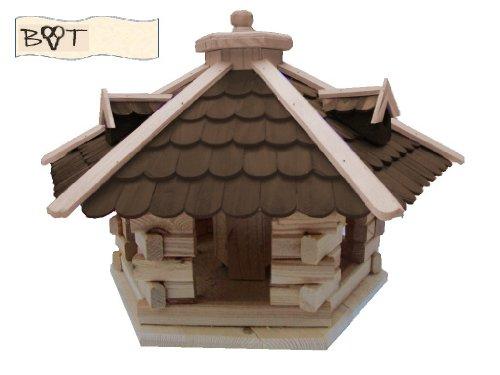 Vogelhaus /garten vogelhäuser, Vogelhaus /garten vogelhäuser, Futterstation aus Holz Vogelvilla Vogelhaus /garten vogelhäuser, Futterhaus dunkelbraun SG40duOS ohne Ständer