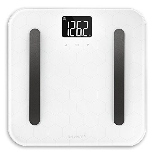 Designer Glass Body Composition White Bathroom Scale from GreaterGoods (White Body Composition) ... (White Body Composition) ()