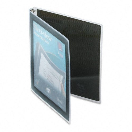 Avery Products - Avery - Flexi-View Round-Ring Presentation View Binder, 1/2amp;quot; Capacity, Black - Sold As 1 Each - A flexible round ring binder, with a stylish graphic border on cover that helps your work look great. - See-through view pocket encourages you to customize both the outside and inside front cover for more professional presentations. - Nonstick material prevents ink and toner transfer from printed pages. - PVC-free. -