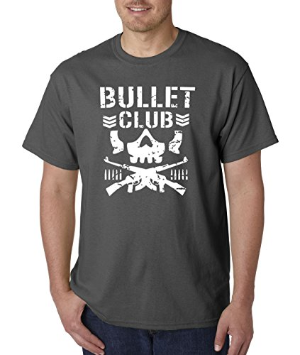 New Way 786 - Unisex T-Shirt Bullet Club Skull Bone Soldier Japan Pro Wrestling 2XL Charcoal New Cute Japan