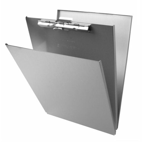 Saunders Aluminum Top Opening Storage - Wholesale CASE of 10 - Saunders Aluminum Top-Opening Storage Clipboards-Form Holder,w/ Top Open,Stor Cmpmnt.,8-1/2
