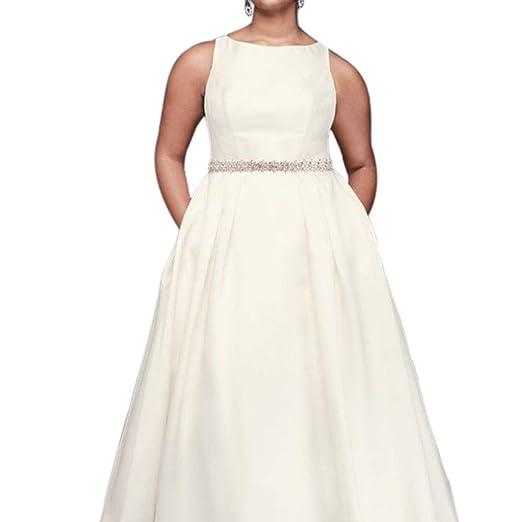 David s Bridal High-Neck Mikado Plus Size Ball Gown Wedding Dress ... d7058b660
