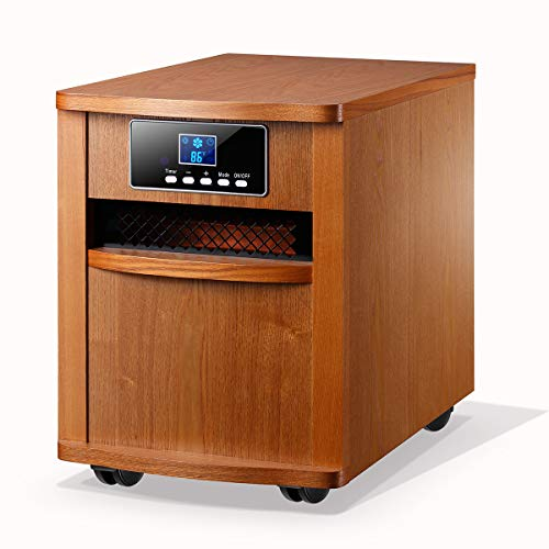 Homeleader Infrared Heater Portable Space Heater, with Remote Control, Digital Infrared Quartz Heater, 1500W, ()