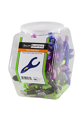 PenAgain Twist 'n Write Hexagonal Tub Display of 48 Arthritis Ehlers Danlos Syndrome ASSORTED Colors (00079) by PenAgain