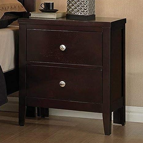 Amazon.com: Carlton Coaster Muebles Mesita de noche con 2 ...