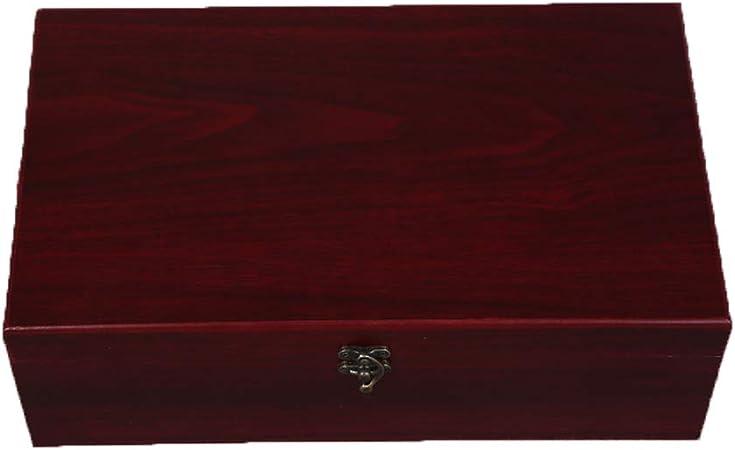 Compra Jhlkfc Vino de Madera Caja de Regalo Vino Tinto 2 Botella de Vino Caja de Almacenamiento de Viaje Estuche de exhibición (Acabado de Madera), B en Amazon.es