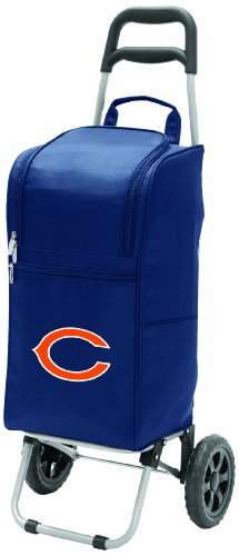 NFL Chicago Bears Insulated Cart Cooler with Wheeled Trolley, Navy ()
