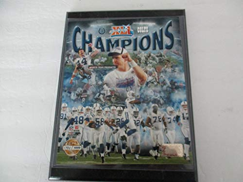 INDIANAPOLIS COLTS 2007 PHOTO FILE SUPER BOWL CHAMPIONS FEATURING PEYTON MANNING (MVP) NUMBERED PHOTO *LIMITED EDITION # 1794/5000* MOUNTED ON A 9