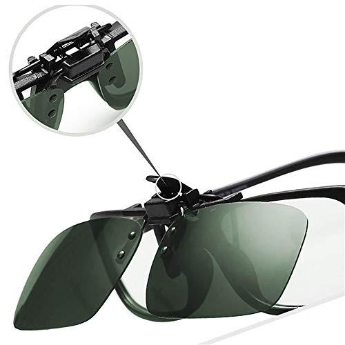 Sonnenbrille Von Clip up forepin Männer Polarisiert Aufsatz Sonnenbrille aufstecken Clip Flip Brillenträger Unisex für und Frauen Licht Aufsatz On Gegen Sonnenbrille dqXwqz