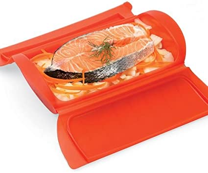 Lékué Estuche de Vapor para el microondas, con una Capacidad de 330 ml (1 Personas), Color Rojo: Amazon.es: Hogar