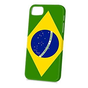 Case Fun Apple iPhone 5 / 5S Case - Vogue Version - 3D Full Wrap - Flag of Brazil (World Cup)