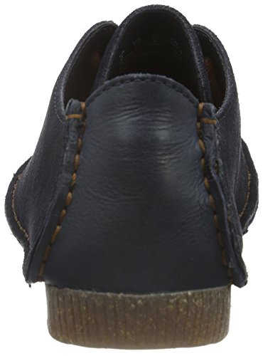 Clarks Ladies Janey Mae Scarpe Stringate Brogue Blu (pelle Scamosciata Blu Scuro)