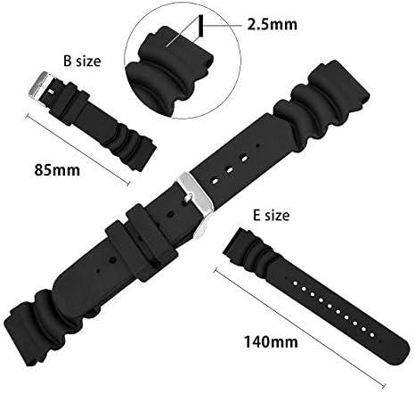 CASSIS[カシス] ラバー 時計ベルト 完全防水 TYPE DIVER タイプ ダイバー22 22mm ブラック 交換用工具付き X0032165019022M