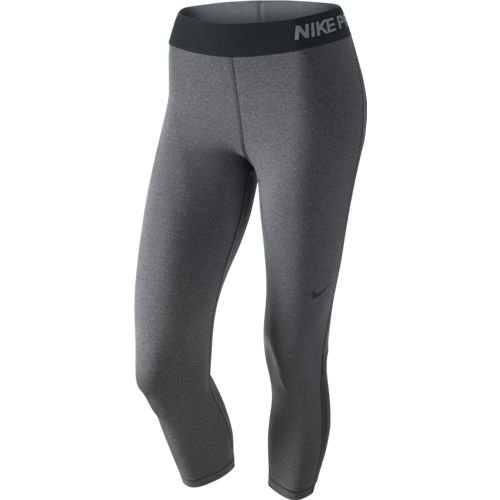NIKE Women's Pro Cool Capris Dark Grey/Heather/Black LG ()