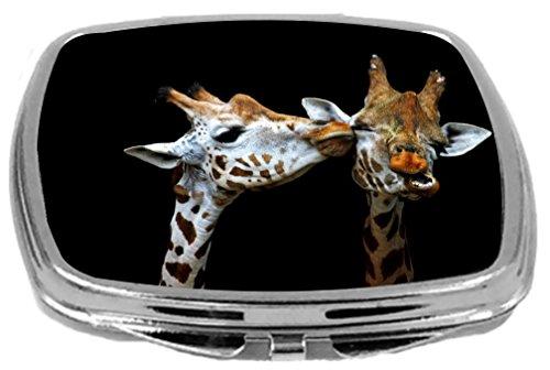 Rikki Knight Compact Mirror, Kissing Giraffes from Rikki Knight