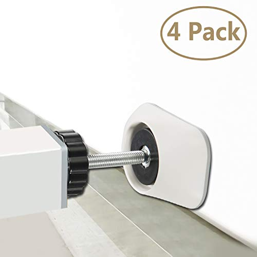 Baby Gates Wall Pads (4 Pack Guard) Safety Indoor Gate Wall Protector - Improved Small Compact Wall Cups Saves Trim & Paint - Best Dog Pet Child Kid Walk Through Pressure Mounted Gates Guard