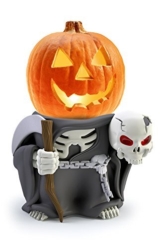 Indoor/Outdoor Halloween Decorations Grim Reaper Pumpkin Statue For Backyard, Lawn or Garden - Iconic, Hand Painted, Weatherproof, Creepy, Scary - Made Of Resin by 3B Global
