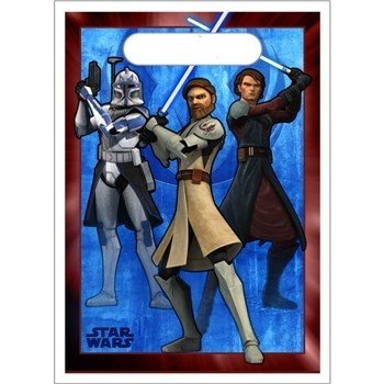 8ct Star Wars The Clone Wars Favor Bags