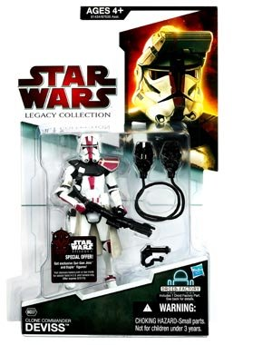 Star Wars The Legacy Collection Clone Commander Deviss BD37 33/4 Inch Scale Action Figure
