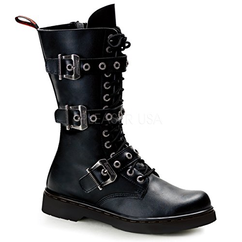 Demonia Defiant-303 - Botas Hombre Black (Blk Vegan Leather)