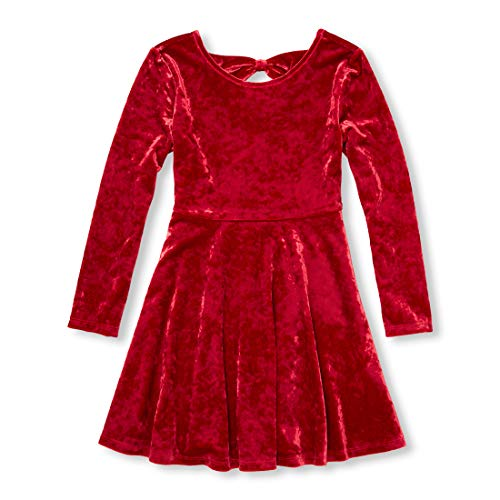The Children's Place Big Girls Special Occasion Dresses, Candy Cane, L (10/12) (Best Places For Dresses)