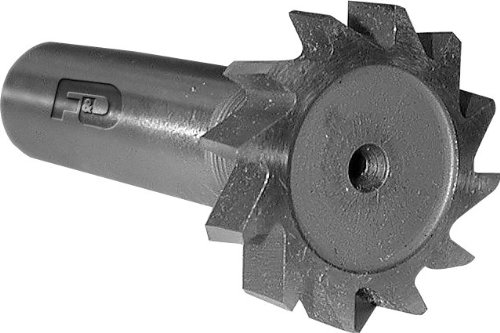F/&D Tool Company 12363 Shank Type Woodruff Keyseat Cutter 1 Diameter 7//32 Width of Face High Speed Steel Staggered Tooth