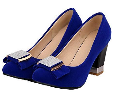 di Tacco Puro Mucca Donna Tirare Flats AgooLar Alto GMMDB006107 Pelle Azzurro Ballet Ux4aIan7
