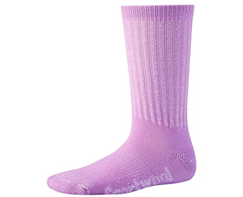Orchid Pink Wool - SmartWool Kids' Hike Light Crew Socks (Orchid) Medium