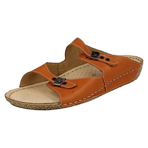 Orange Remonte Sandalen auf Leder D3651 Damen Slip nB0YOHqxww