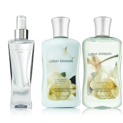 - Bath & Body Works Cotton Blossom Lot of 3 Shower Gel, Mist and Body Lotion