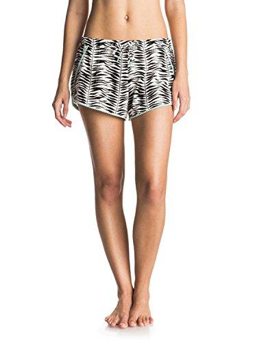 Roxy Womens Roxy Cute Pompom - Beach Shorts - Women - M - White Animal_Kona_20X20_Combo_Seaspr - Kona Swimwear