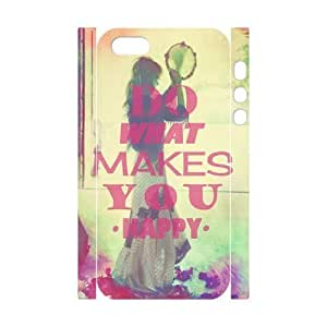 Custom New Case for Iphone 5,5S 3D, Happy Life Phone Case - HL-503783