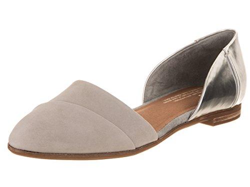 TOMS Jutti D'Orsay Silver Specchio/Drizzle Grey Leather 7 B (M)
