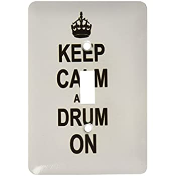 3dRose lsp/_157736/_2 Keep Calm and Knit on Carry on Knitting Knitter Hobby Gifts Black Fun Funny Humor Humorous Double Toggle Switch