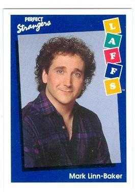 (Perfect Strangers trading card 1991 Impel Laffs #54 Mark Linn Baker as Larry Appleton)