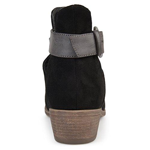 Myra Booties Black Brinley Stacked Heel Co Faux Womens Suede qnp1xEURw