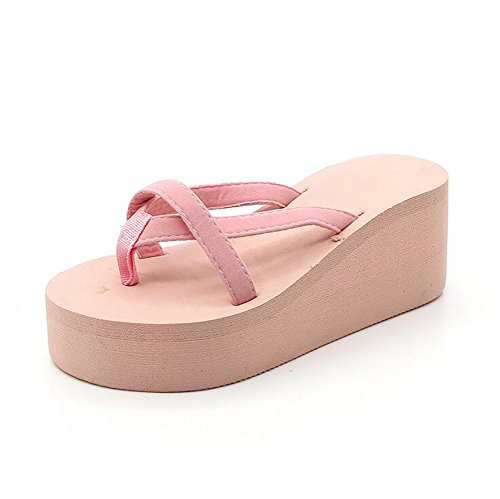 ec6b4ab4c6507e Women s Shoes Flip Flops Wedge Sandals Non-Slip Beach Slipper Slipper  Slipper Thick-Soled High Heels