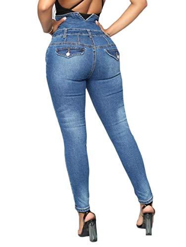 Da Pantaloni Deinem Donna Elasticizzati Blu Skinny Herzen Vita Alta Folge Strappati A Scuro Junior Jeans 8wv1WHOdq