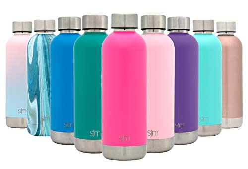 Simple Modern 25oz Bolt Sports Water Bottle - Stainless Steel - Double Wall Vacuum Insulated - Leak Proof Bottle -Malibu - Modern Malibu Metal